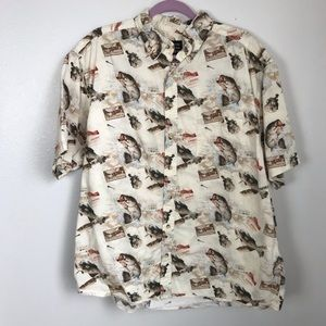 Cotton Traders | Fish Short Sleeve Button Down